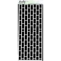 Picket Fence Studios - 4 x 10 Stencils - Slimline - Horizontal English Brick Wall