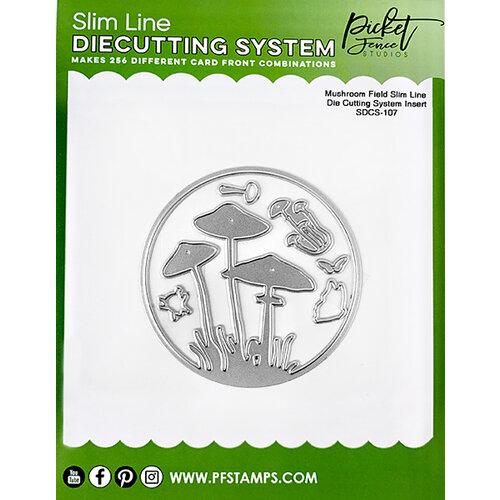 Picket Fence Studios - Slimline Die Cutting System - Dies - Mushroom Field Insert