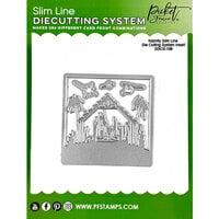 Picket Fence Studios - Slimline Die Cutting System Collection - Christmas - Dies - Nativity Insert