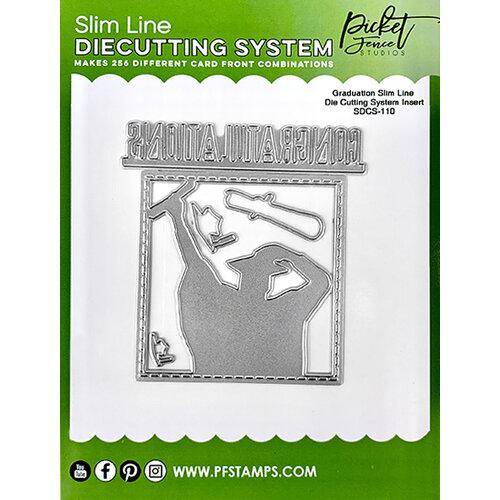 Picket Fence Studios - Slimline Die Cutting System - Dies - Graduation Insert