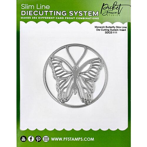 Picket Fence Studios - Slimline Die Cutting System - Dies - Monarch Butterfly Insert