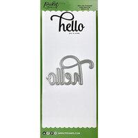Picket Fence Studios - Dies - Slimline - Hello Word
