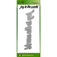 Picket Fence Studios - Slimline Die Cutting System Collection - Christmas - Dies - Oversized Joy To The World