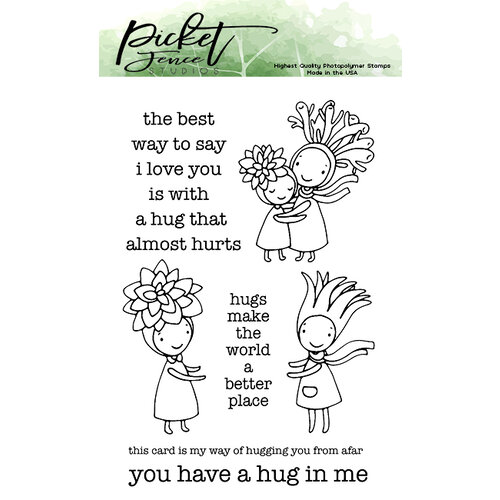 Picket Fence Studios - Clear Photopolymer Stamps - I am a Hugger