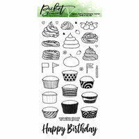 Picket Fence Studios - Clear Photopolymer Stamps - Cupcake Love