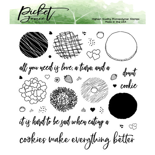 Picket Fence Studios - Clear Photopolymer Stamps - Cookie or Donut