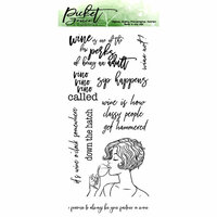 Picket Fence Studios - Clear Photopolymer Stamps - Sip Happens