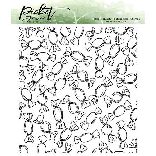Picket Fence Studios - Clear Photopolymer Stamps - Wrapped Candy