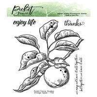 Picket Fence Studios - Clear Photopolymer Stamps - Vintage Apple