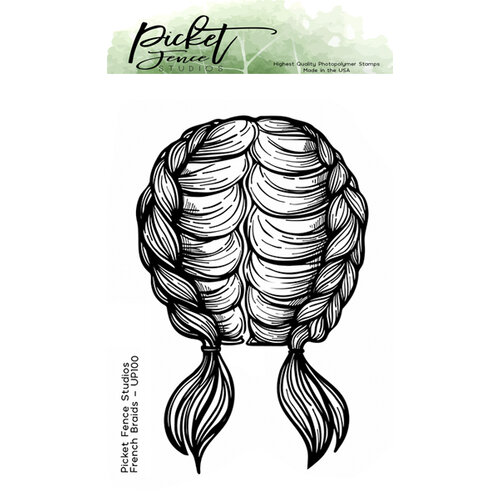 Picket Fence Studios - Clear Photopolymer Stamps - French Braids