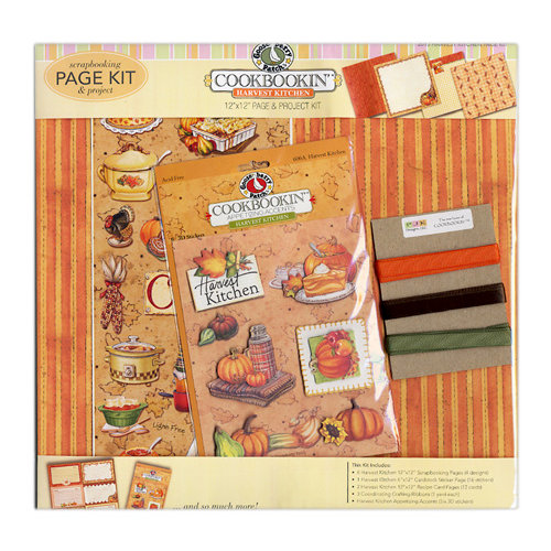 PJK Designs - Cookbookin' - Harvest Kitchen Collection - 12 x 12 Page and Project Kit - Harvest Kitchen, CLEARANCE