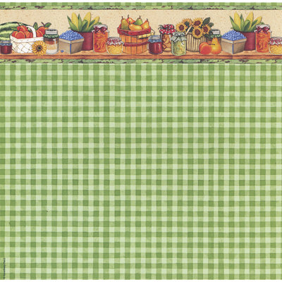 PJK Designs - Cookbookin' - Cookin' Up Memories Collection - 12 x 12 Paper - Farmer's Market, CLEARANCE