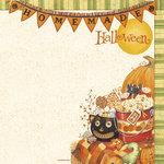 PJK Designs - Cookbookin' - Halloween Goodies Collection - 12 x 12 Paper - Homemade Halloween, CLEARANCE