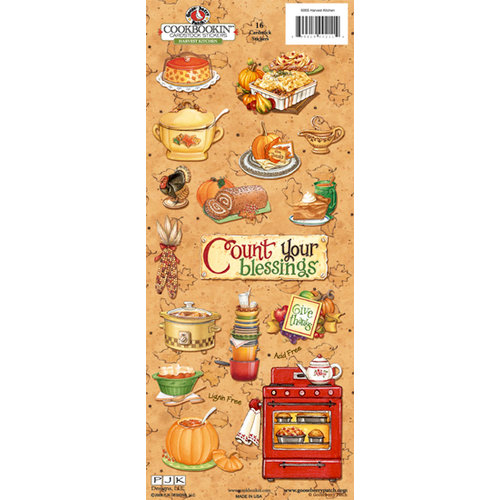 PJK Designs - Cookbookin' - Harvest Kitchen Collection - Cardstock Stickers - Harvest Kitchen, CLEARANCE