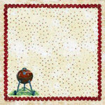 PJK Designs - Cookbookin' - Sweet Summertime Collection - 12 x 12 Paper - Just Add Charcoal, CLEARANCE