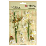 Petaloo - Botanica Collection - Floral Embellishments - Ephemera - White