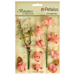 Petaloo - Botanica Collection - Floral Embellishments - Ephemera - Coral