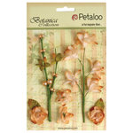 Petaloo - Botanica Collection - Floral Embellishments - Ephemera - Peach