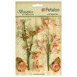Petaloo - Botanica Collection - Floral Embellishments - Ephemera - Peach