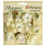 Petaloo - Botanica Collection - Floral Embellishments - Minis - White