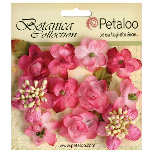 Petaloo - Botanica Collection - Floral Embellishments - Minis - Fuchsia