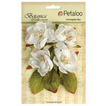 Petaloo - Botanica Collection - Floral Embellishments - Blooms - White