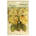 Petaloo - Botanica Collection - Floral Embellishments - Blooms - Soft Yellow