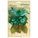 Petaloo - Botanica Collection - Floral Embellishments - Blooms - Teal