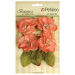 Petaloo - Botanica Collection - Floral Embellishments - Blooms - Coral