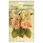 Petaloo - Botanica Collection - Floral Embellishments - Blooms - Peach