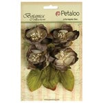 Petaloo - Botanica Collection - Floral Embellishments - Blooms - Charcoal Grey