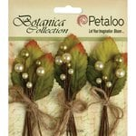 Petaloo - Botanica Collection - Floral Embellishments - Spring Berry Clusters - Yellow Green