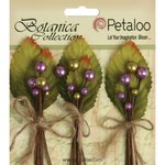 Petaloo - Botanica Collection - Floral Embellishments - Spring Berry Clusters - Lavender Purple