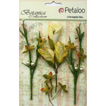 Petaloo - Botanica Collection - Floral Embellishments - Calla Lilies and Berries - Soft Yellow