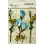 Petaloo - Botanica Collection - Floral Embellishments - Calla Lilies and Berries - Teal