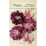 Petaloo - Botanica Collection - Floral Embellishments - Mums and Butterflies - Lavender and Purple