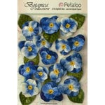 Petaloo - Botanica Collection - Floral Embellishments - Velvet Pansies - Royal Blue