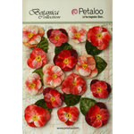 Petaloo - Botanica Collection - Floral Embellishments - Velvet Pansies - Red