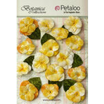 Petaloo - Botanica Collection - Floral Embellishments - Velvet Pansies - Amber