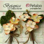 Petaloo - Botanica Collection - Floral Embellishments - Velvet Hydrangea - Cream