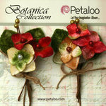 Petaloo - Botanica Collection - Floral Embellishments - Velvet Hydrangea - Red