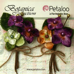 Petaloo - Botanica Collection - Floral Embellishments - Velvet Hydrangea - Violet