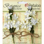 Petaloo - Botanica Collection - Floral Embellishments - Velvet Lilacs - White