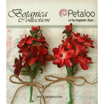 Petaloo - Botanica Collection - Floral Embellishments - Velvet Lilacs - Red