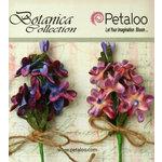 Petaloo - Botanica Collection - Floral Embellishments - Velvet Lilacs - Lavender and Purple