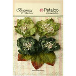 Petaloo - Botanica Collection - Floral Embellishments - Sugared Blooms - Green