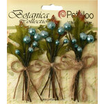 Petaloo - Botanica Collection - Floral Embellishments - Sugared Berry Clusters - Teal