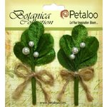 Petaloo - Botanica Collection - Christmas - Floral Embellishments - Mistletoe Picks - Green