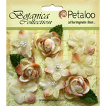 Petaloo - Botanica Collection - Floral Embellishments - Vintage Velvet Minis - Ivory