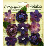 Petaloo - Botanica Collection - Floral Embellishments - Vintage Velvet Minis - Purple